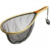 Graibštas Ron Thompson Wooden Landing Net Trout - No Kill Mesh