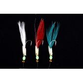 42609 Sistemėlė Ron Thompson Rig6 Hokkai w/Flash and Mixed Feathers 3 #2 Silver Hook
