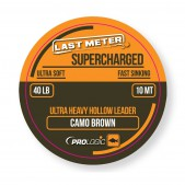 54460 Valas Prologic Supercharged Hollow Leader (10m; 18 kg;  Camo Brown)