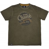 Marškinėliai Fox Chunk Stonewash T-Shirt Khaki