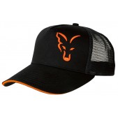 Kepurė su snapeliu Fox Black / Orange Trucker