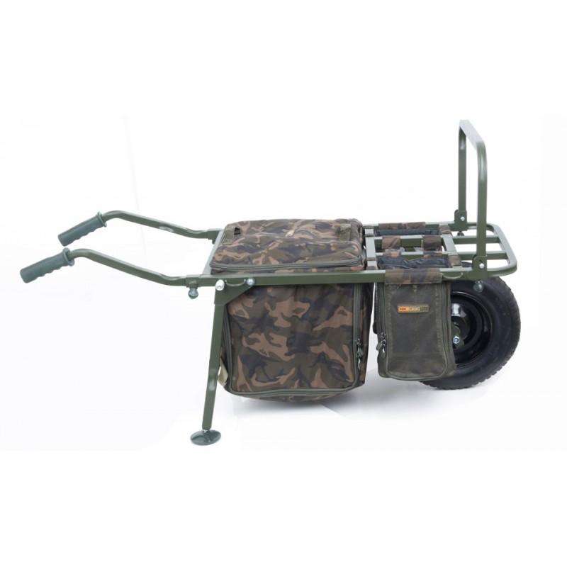 Įrangos vežimėlis FOX FX Explorer Barrow and Camo Lite Bag inc 2 straps & mesh bags