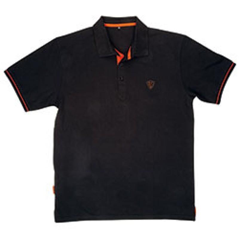 Fox Black Orange Polo Shirt Marškinėliai