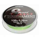12781-120a Daiwa Tournament 8 PE valas 150m 0.20 Fluorescencinis