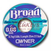 Owner Broad nylon monofilament 0.12 25m