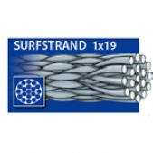 Pavadėliai 52-403-20 Dragon Surfstrand Light 1x19 3 20